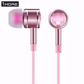 1MORE Crystal Style In-ear Earphones 3.5mm Jack with Mic Pink