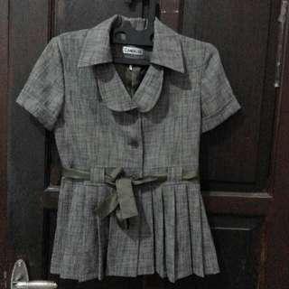 CAMELIA Baju/atasan Kantor/office Hijau - Formal - Uk. L