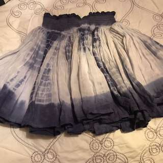 Blue & White Skirt