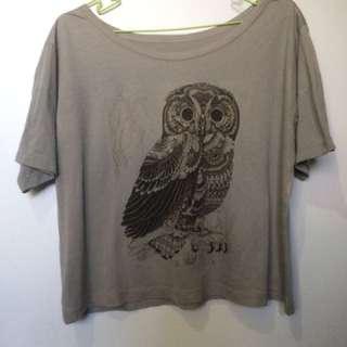 Owl Gray Top