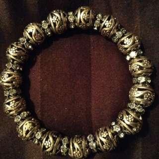 Beautiful Silver Beaded Bracelet