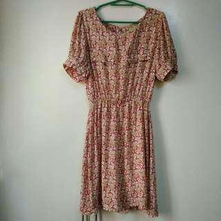 Printed Day Dress