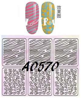 🚚 👼美甲飾品👼簍空貼紙/兩用/造型貼/貼紙模/噴繪/快速方便/指甲油/光療/DIY📍