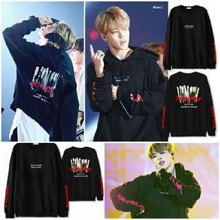 BTS Jimin Black Subculture Concert Style Inspired Sweatshirt Sweater