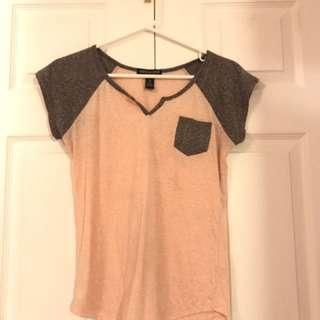 Pink & Grey Top
