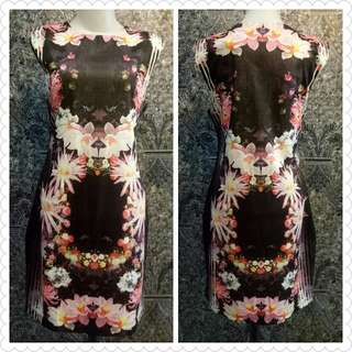 Mini dress kembang
