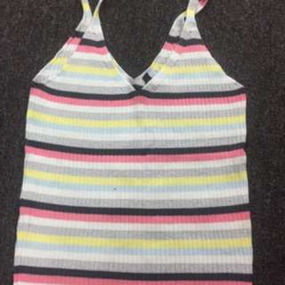 H&M Knitted Glitter Stripe Vest Top