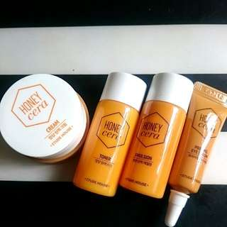 (包郵) Etude house honey cera Priming Eye Serum Toner Emulsion Cream