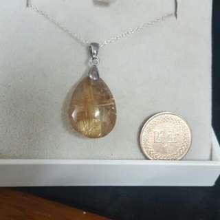 收藏12年的天然鈦金18kgp墜(不含鍊)