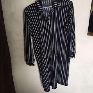 Stripes Knee Length Shirt
