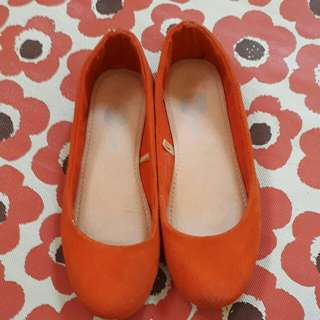 Sole mate orange doll shoes