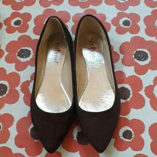 Cherish choco brown flat doll shoes