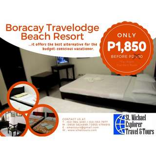 Up to 70% Hotel Discounts: Boracay Travelodge Beach Resort