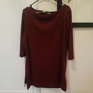 Deep Maroon Top / Short Dress