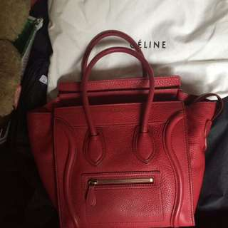 Celine Mini luggage lipstick Red