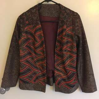 Orange, Brown And Gold Jacket Size 8