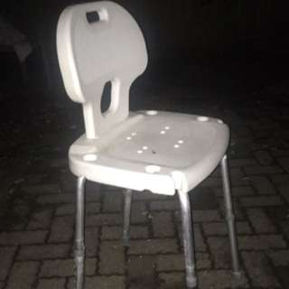 white plastic high chair
