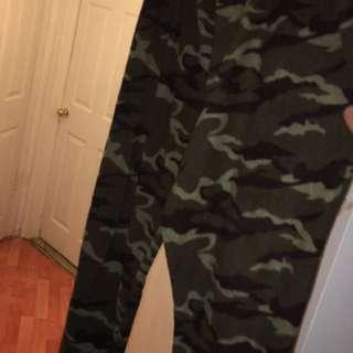 Large camo pyjama pants