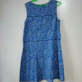 Uniqlo Polka Dot Linen Dress