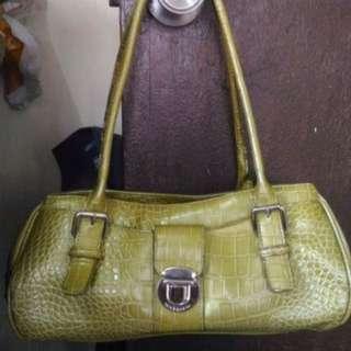 Authentic Liz Claiborne Green Crocodile Bag