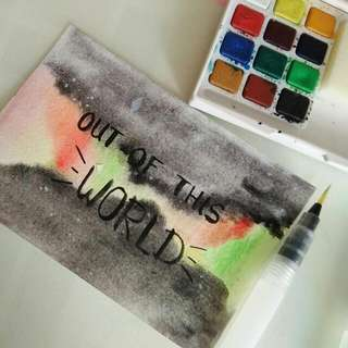 'Out Of This World' Watercolor Card