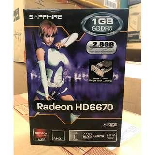 Sapphire HD6670 1GB Low Profile GPU