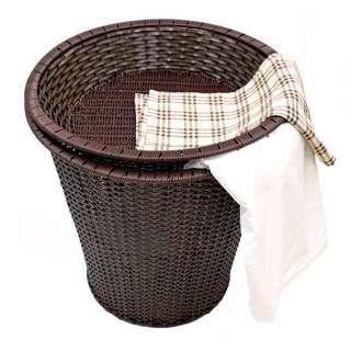 大空間 塑料仿藤編 水果籃 洗衣籃 置物籃 一大籃一小籃一組- CLBK00026