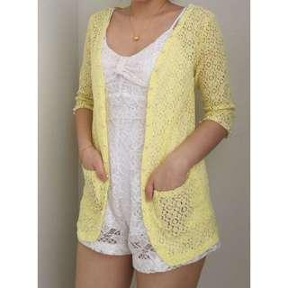Yellow Lacey Cardi