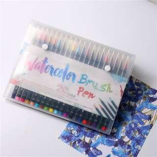 Amazon WaterColour Brush Pen Set (20 Colours) Calligraphy