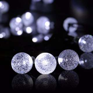 5m Crystal Ball Fairy Light - Pure White