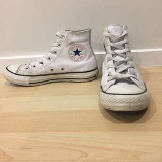 White Leather Chucks