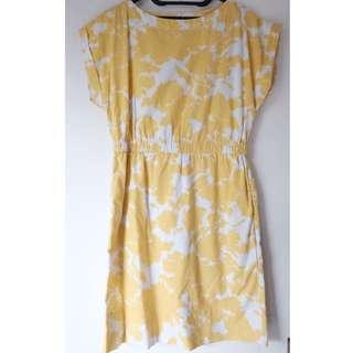 Gap Yellow Printed Dress