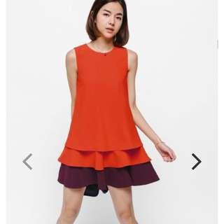 Love Bonito Gilvon Contrast Layered Dress Red