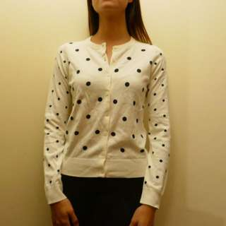 NEW Uniqlo Polka Dot Cardigan Size S