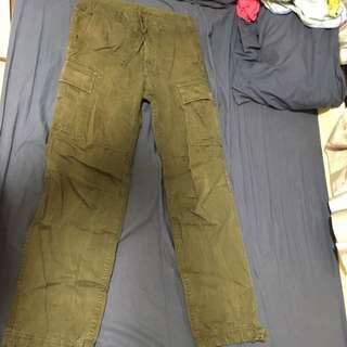 深綠工人褲
