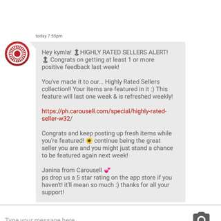 10th!😊 Thank You Carousell & Valued Customers❤