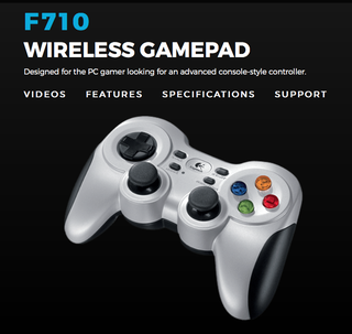 Logitech F710 WIRELESS GAMEPAD | 2.4Ghz Wireless Connection | Dual Vibration Feedback Motors* | 4 Switch D-Pad | Works with Andriod TV | 3 yrs Warranty