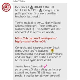 Highly Rated Seller! 💋💋 Thanks for trusting 🙏