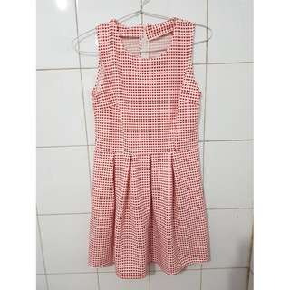 Red White Simple Dress