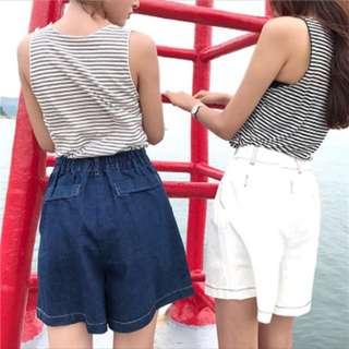 寬鬆短褲(藍)