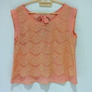 Orange Chiffon Lace