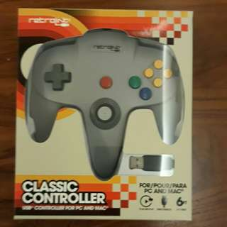 Retrolink Nintendo 64 USB Enabled Wired Controller for PC and MAC