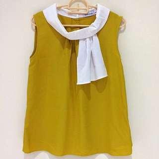 Yellow Neck Top