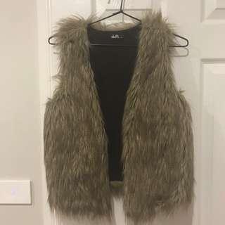 Dotti Fur Vest Size 6