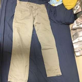 carhartt 淺灰布褲