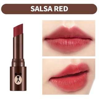 INSTOCK Missha Line Friends Edition Matte Lip Rouge - SALSA RED / Missha X Line Friends Edition Matt Lip Rouge In MRD02 Salsa Red
