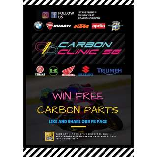 WIN FREE CARBON PARTS. LIKE AND SHARE AND PM US TO QUALIFY.