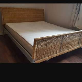 Rattan Bed Frame With Mattress
