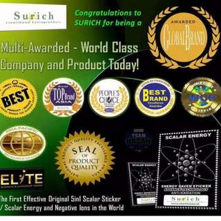 5 in 1 SURICH SCALAR ENERGY SAVER STICKER without CODE