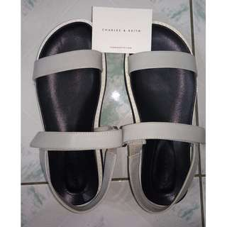 REPRICED Charles and Keith Platform Grey Sandals